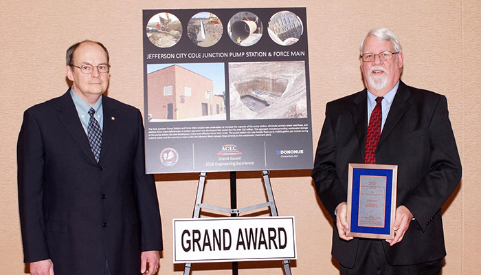 Jefferson City Project Receives ACEC Missouri Engineering Excellence Award Header Image