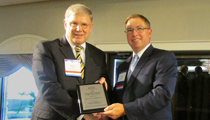 "Gress Named ACEC Indiana ""Engineer of the Year"" Header Image"